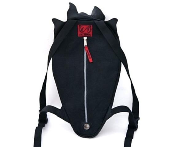567x478 Vampire Bat Latex Gothic Industrial Fetish Cyber Bag Backpack 43044