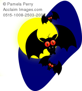 272x300 Art Image Of A Cartoon Vampire Bats For Halloween