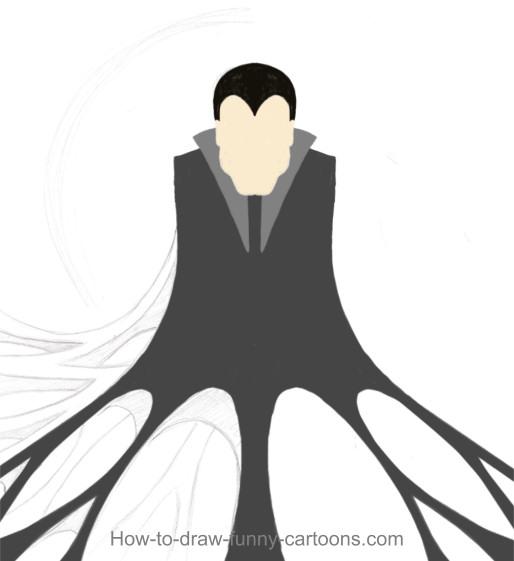 514x561 Drawn Vampire Funny Cartoon