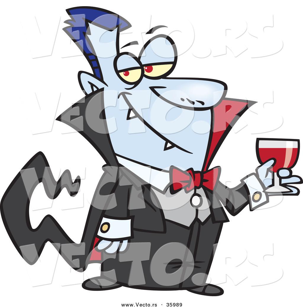 1024x1044 Halloween Vector Of A Suave Cartoon Vampire Holding Wine Glass