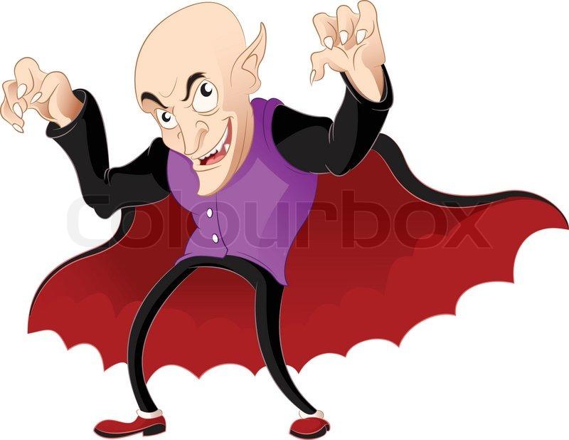 800x618 Vector Image Of A Smiling Cartoon Vampire Stock Vector Colourbox