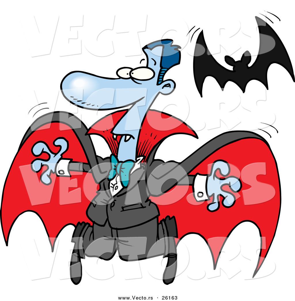 1024x1044 Vector Of Scared Halloween Cartoon Vampire Flyingway