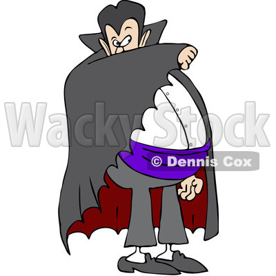 400x400 Vampire Covering His Face With His Cape