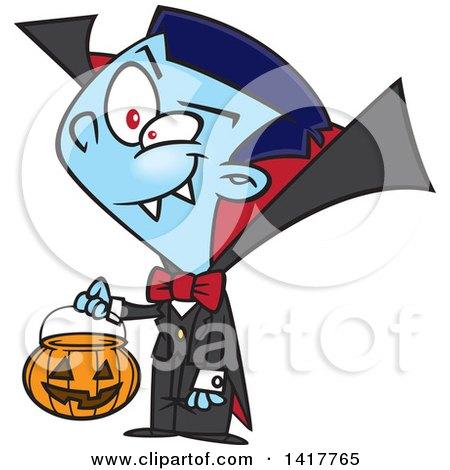 450x470 Clipart Of A Cartoon Halloween Vampire Boy
