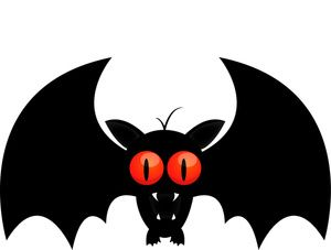 300x227 Creepy Clipart Vampire Bat