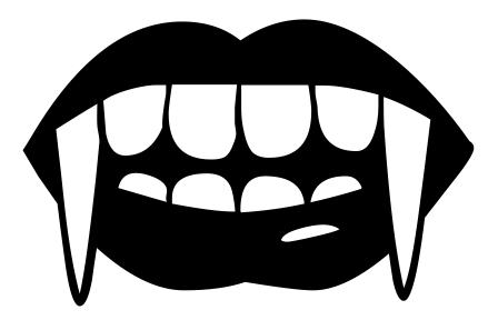 448x297 Top 10 Vampire Teeth Clipart