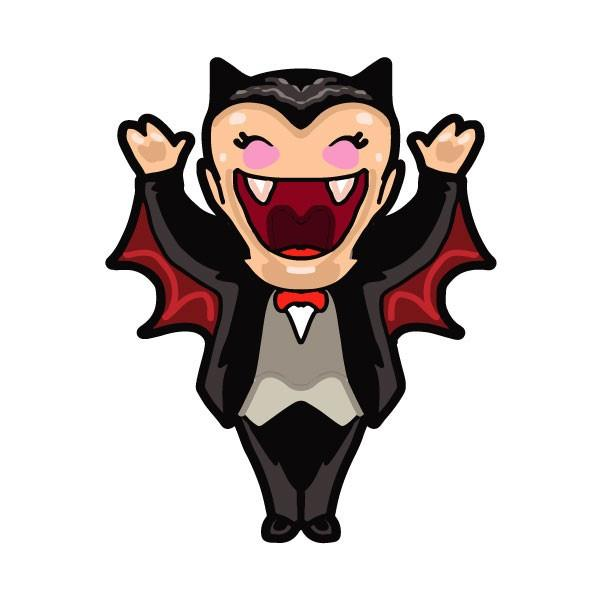 600x600 Vampire Clipart Happy