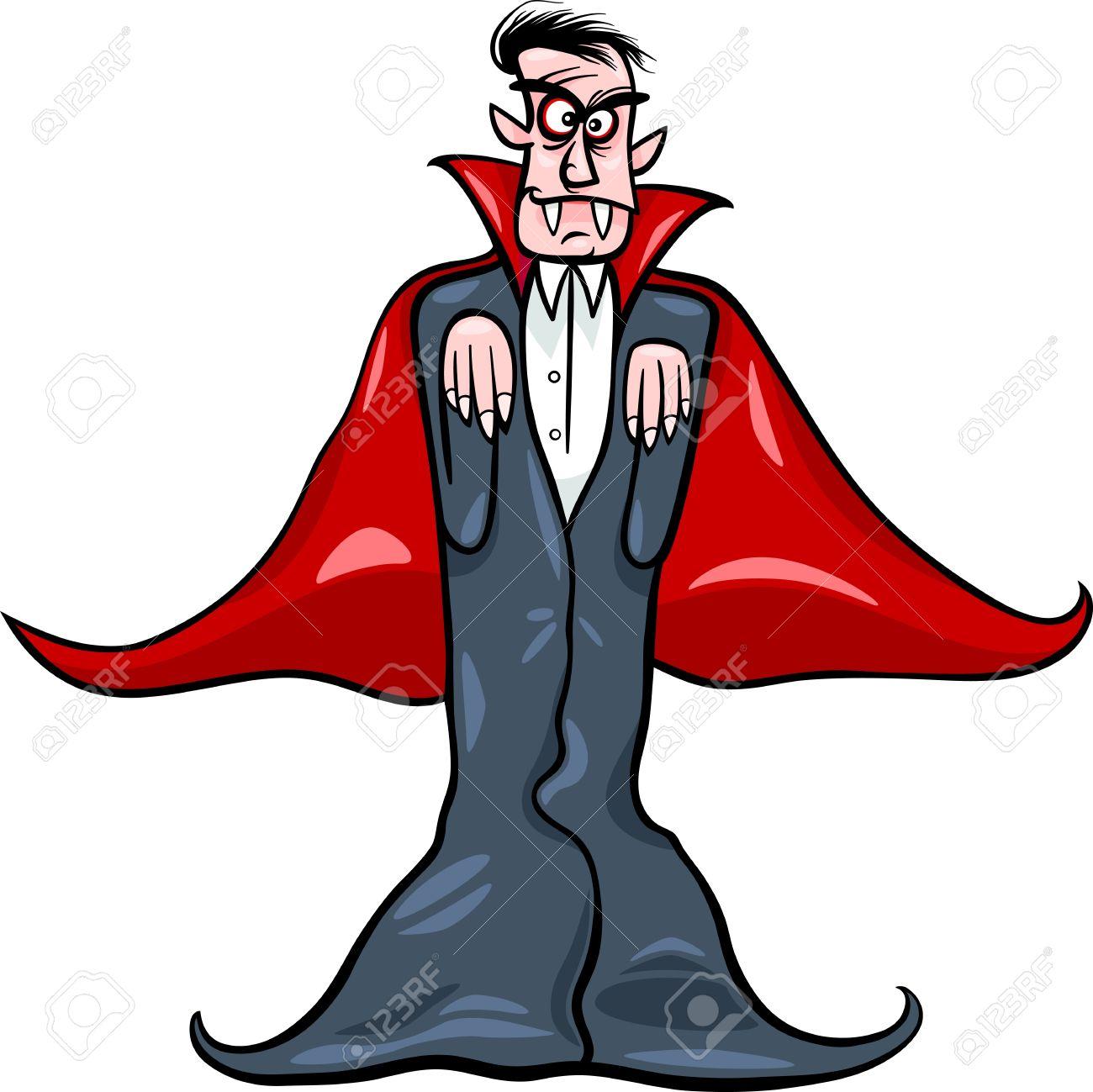 1300x1299 Cartoon Illustration Of Scary Count Dracula Vampire Royalty Free