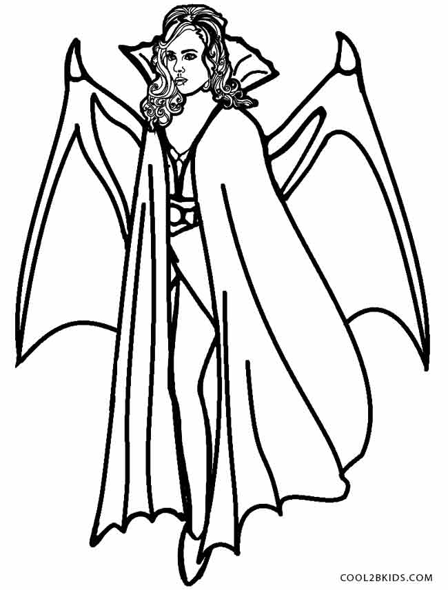 650x856 How To Draw A Halloween Vampire Step By Step, Drawing A Vampire