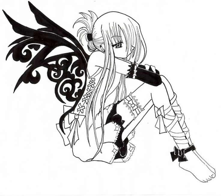736x653 Anime Vampire Girl Coloring Pages Emo Vampire Colouring Vampires