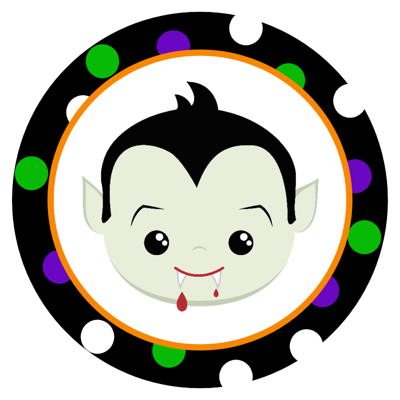 800x800 Free Printable Halloween Stickers Halloween Vampire, Clip Art