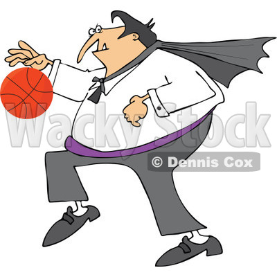 400x400 Of A Sporty Halloween Vampire Playing Basketball