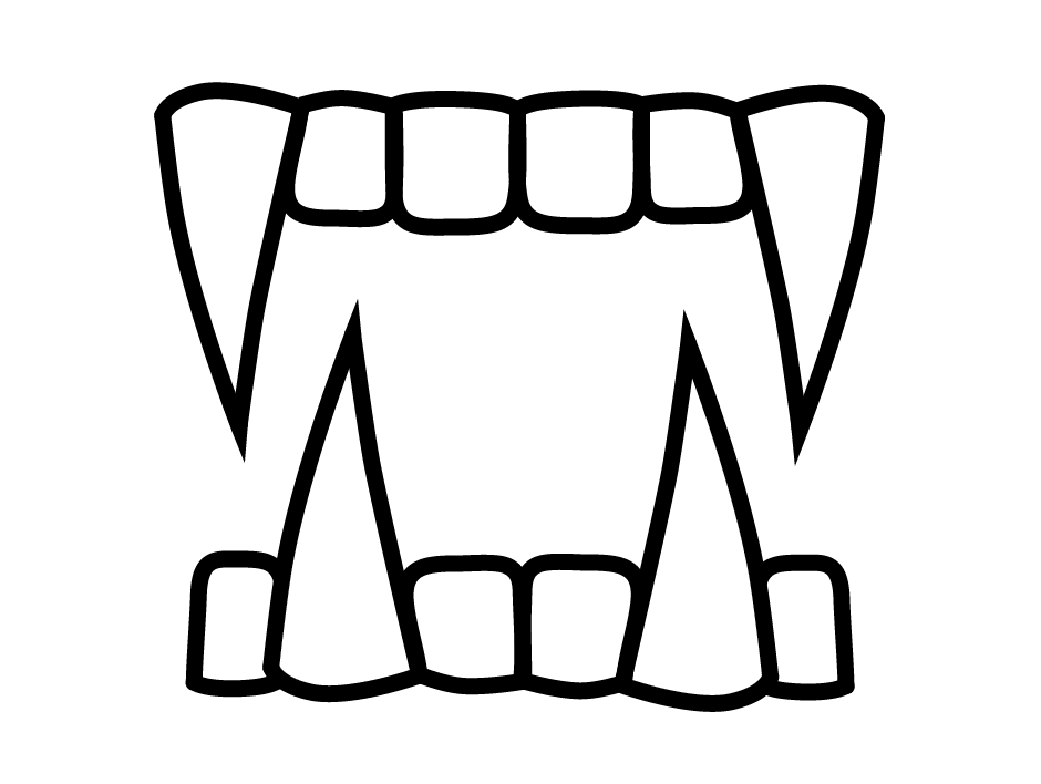 940x708 Fangs Clipart Black And White