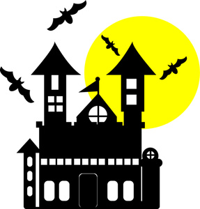287x300 Haunted House Outline Clip Art