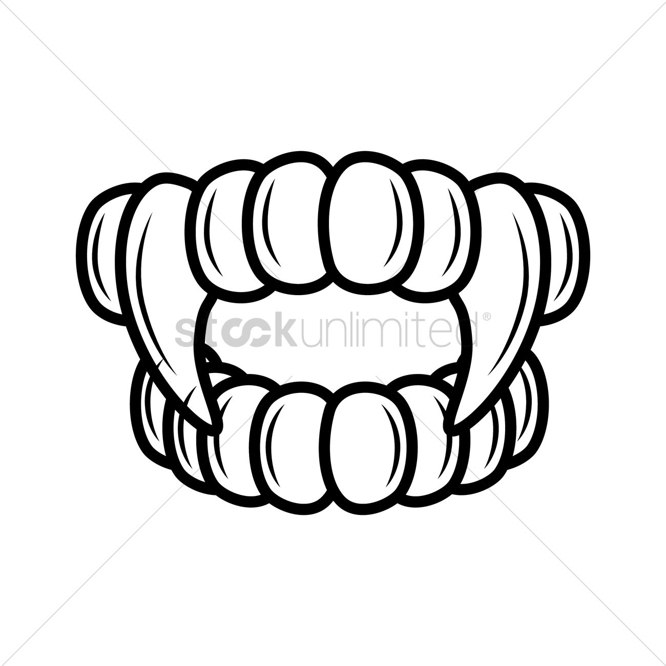 1300x1300 Teeth And Fangs Outline Vector Image