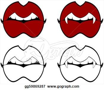 350x305 Halloween Vampire Teeth Clip Art