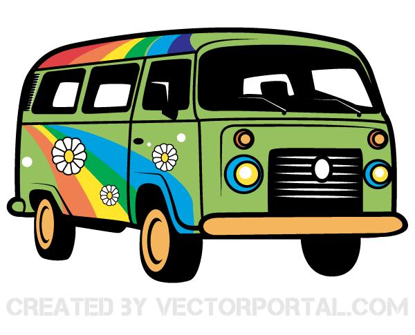 600x485 Camper Clipart Hippie Van