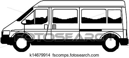 450x202 Clipart Of Delivery Van Hand Draw Illustration K14679914