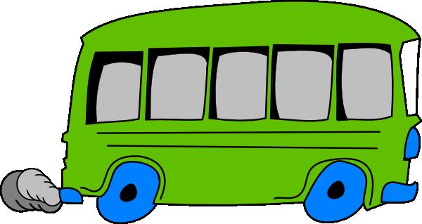600x319 Green Bus Clip Art