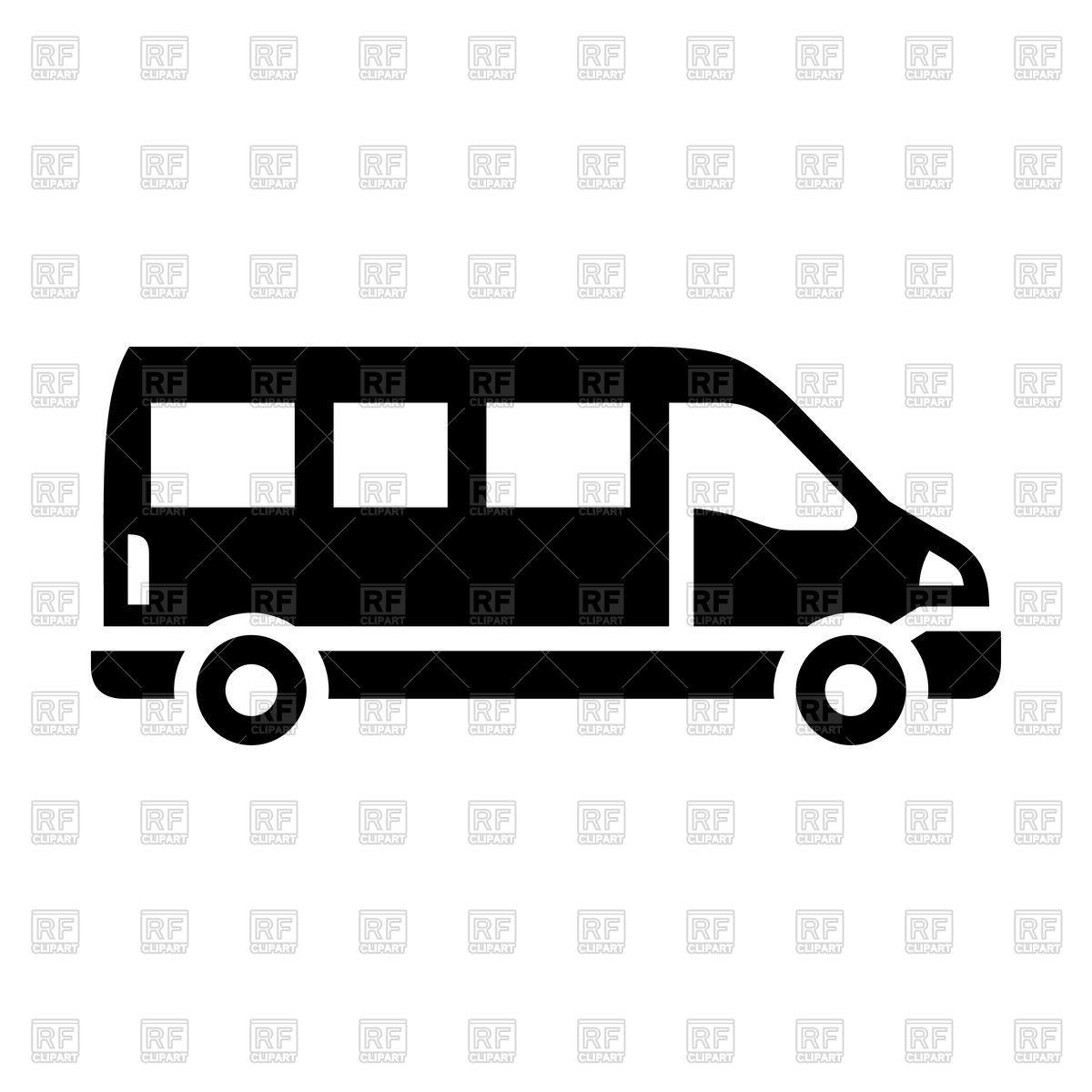 1200x1200 Black Sprinter Van Icon Isolated On White Background Royalty Free