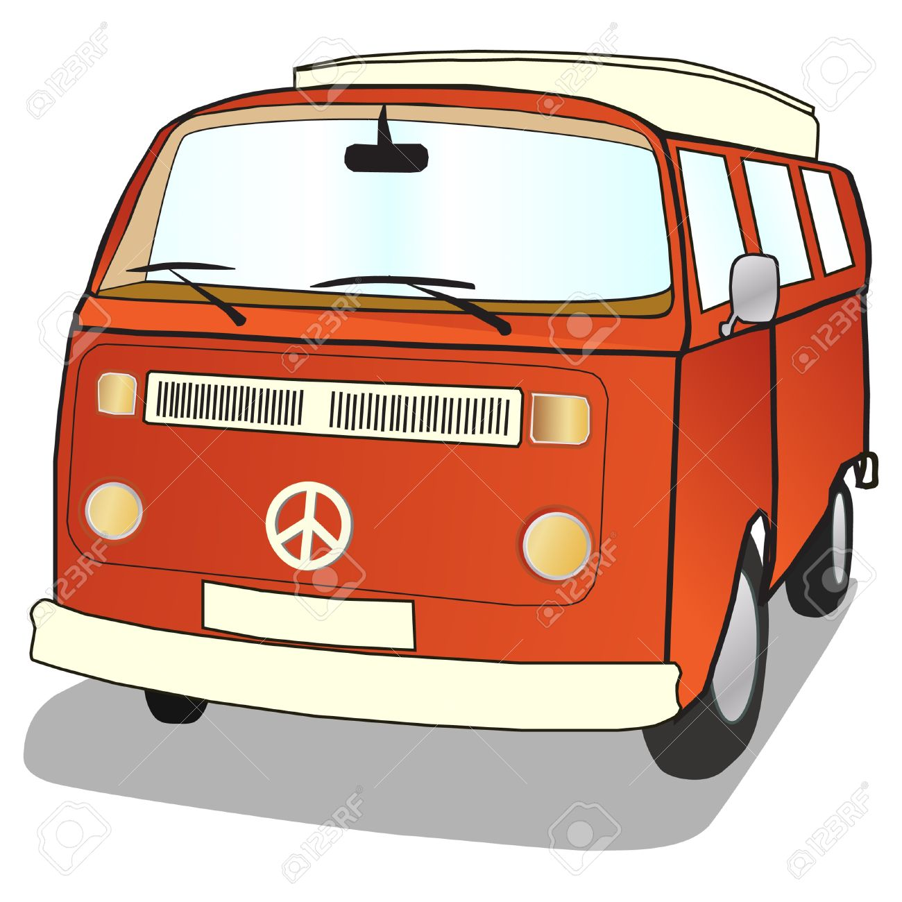 1300x1300 Vans Clipart Campervan