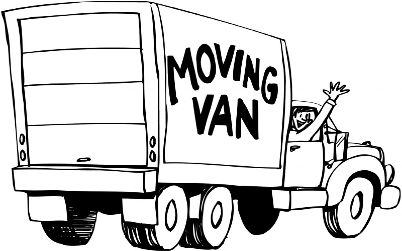 Van Clipart Black And White