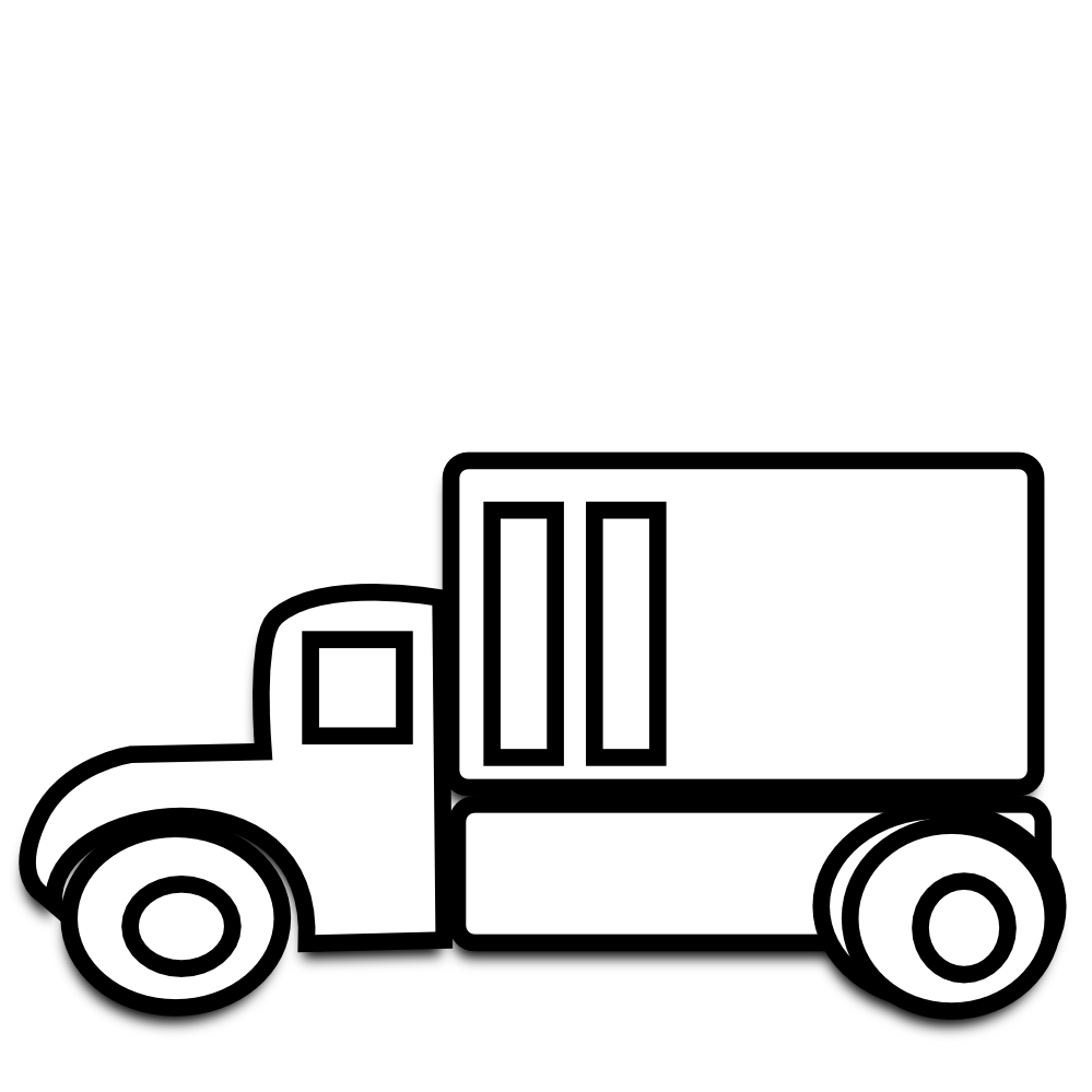999x999 Delivery Van Clipart Black And White