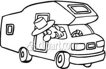 350x226 Man In Van Clipart