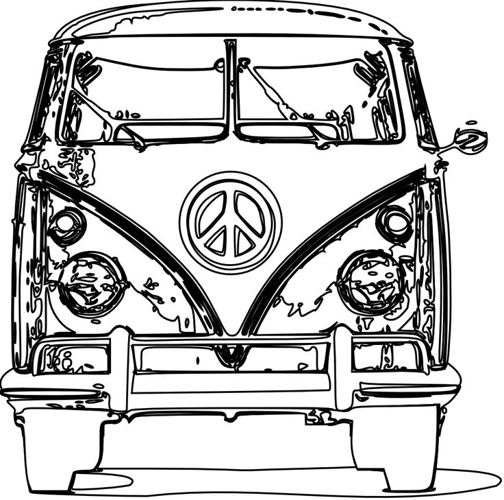 736x729 Vw Bus Coloring Page Printables Vw Bus, Vw And Vw