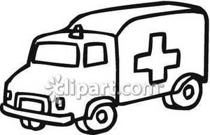 300x192 And White Clipart Of An Ambulance