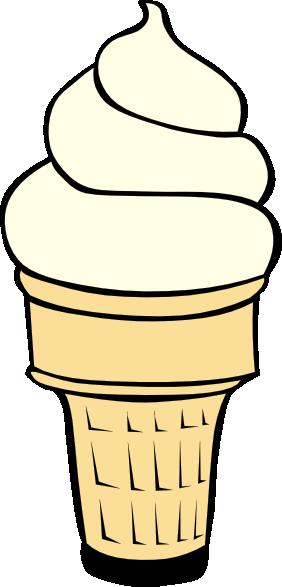 282x587 Vanilla Soft Serve Ice Cream Cone Clip Art