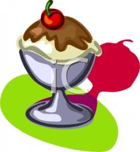 276x300 Vanilla Ice Cream Sundae With Chocolate Sauce On Top
