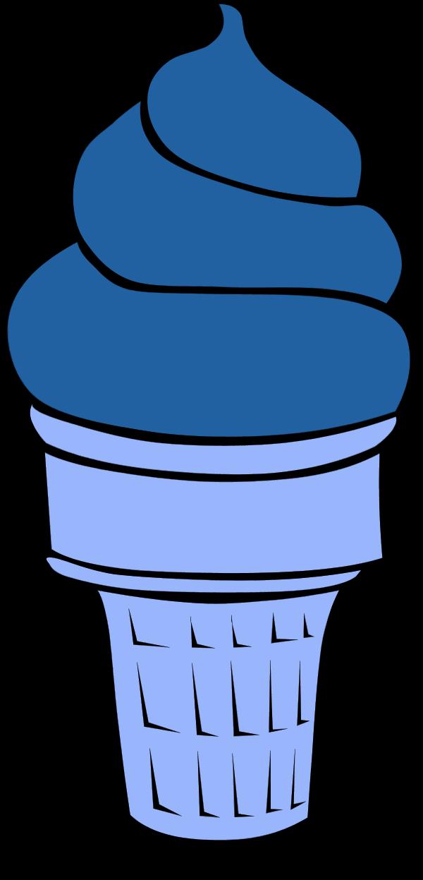 600x1247 Blue Ice Cream Clipart