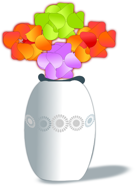 432x595 Flowers In Vase 2 Clip Art