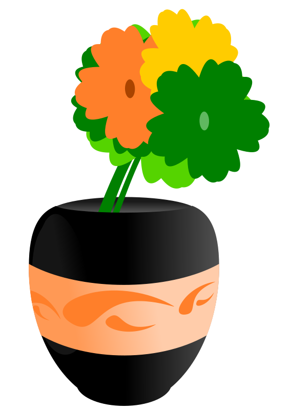 566x800 Free Flowers In An Vase Clip Art