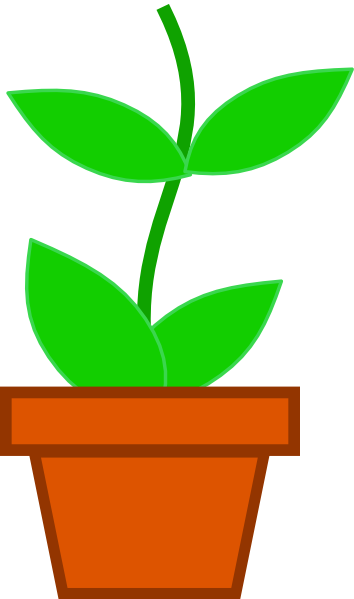 354x599 Pot Flower Md Clip Art