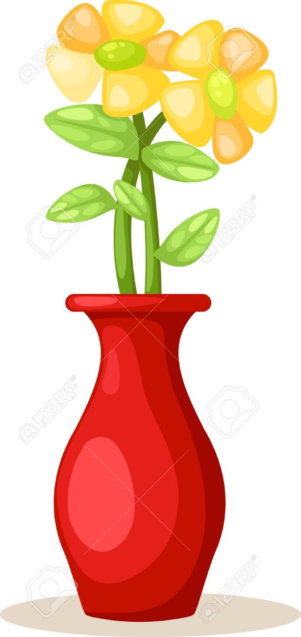 614x1300 Vase Clipart Vector Flower