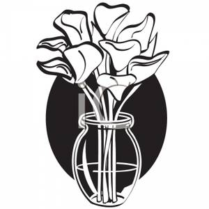 300x300 In Black In White Arranged In A Clear Vase On A Black Background