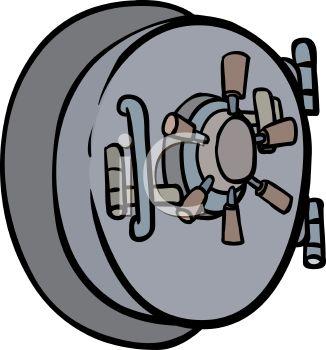 326x350 Bank Vault Clipart