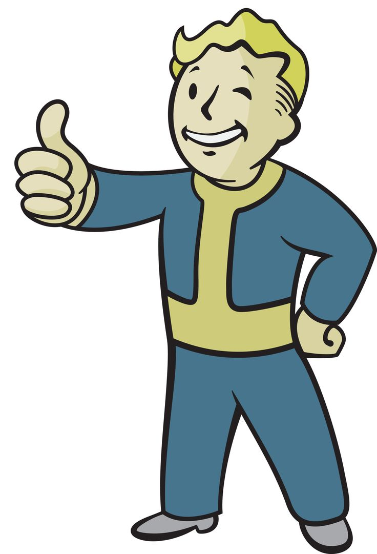 736x1081 Fallout Vault Boy, Game Tattoo Clipart Panda