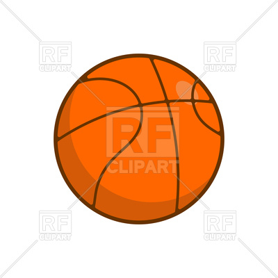 400x400 Basketball Ball Isolated On White Background Royalty Free Vector