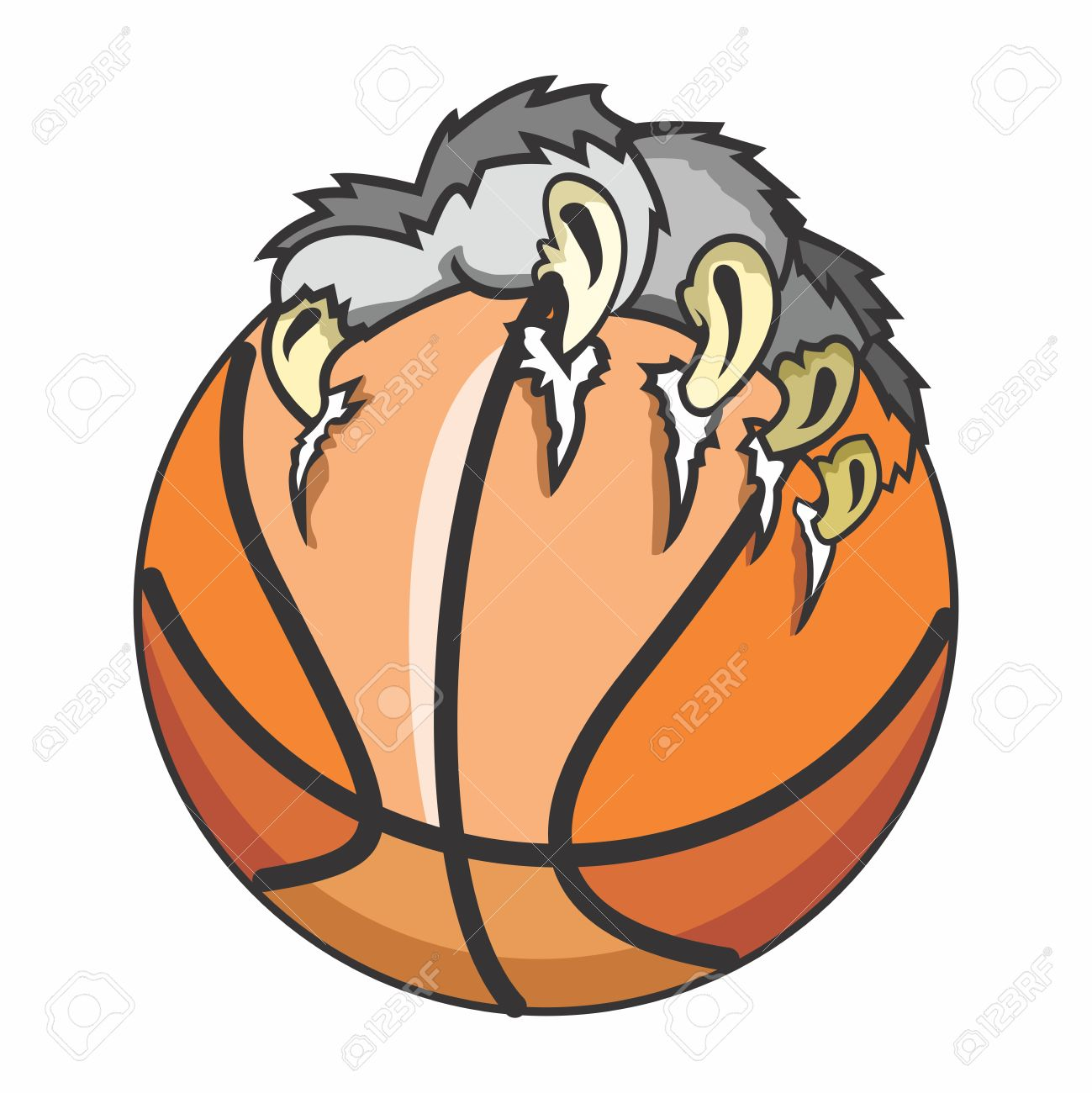 1299x1300 Wolf Clipart Basketball