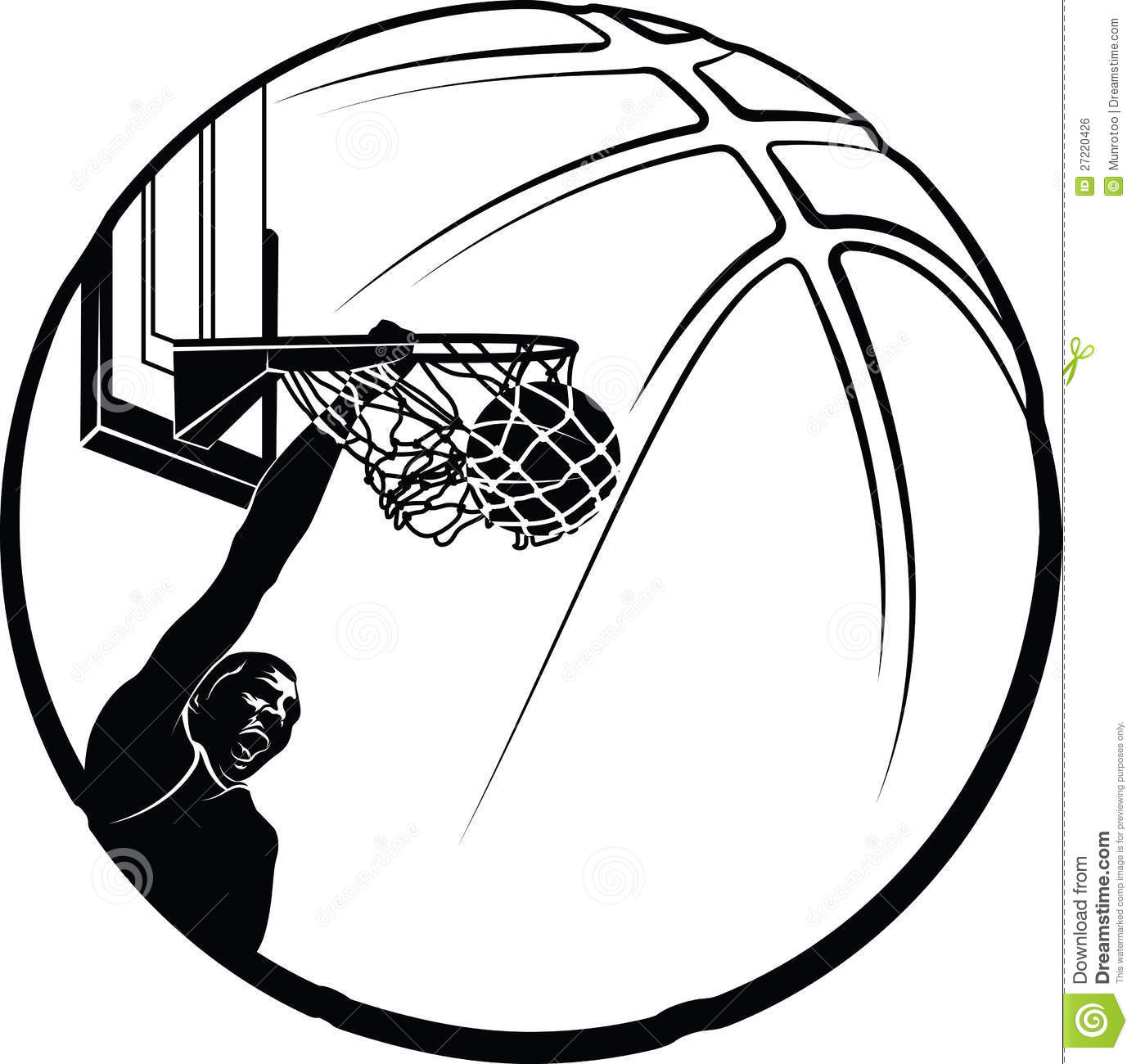 1388x1300 Basketball Clipart Black And White