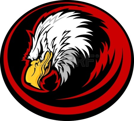 450x408 Eagle Head Vector Graphic Mascot Image Royalty Free Cliparts