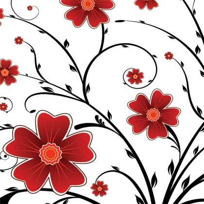 420x420 Red Flower Floral Background Vector Graphics Free Vector