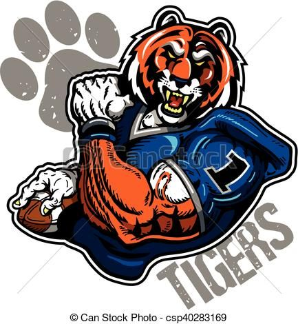 433x470 60 Best Tiger Football Clipart Designs Images