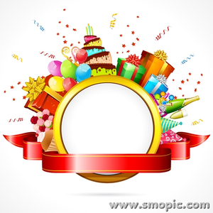 300x300 Smopic Com Free Vector Birthday Photo Frame Wreath Illustrator