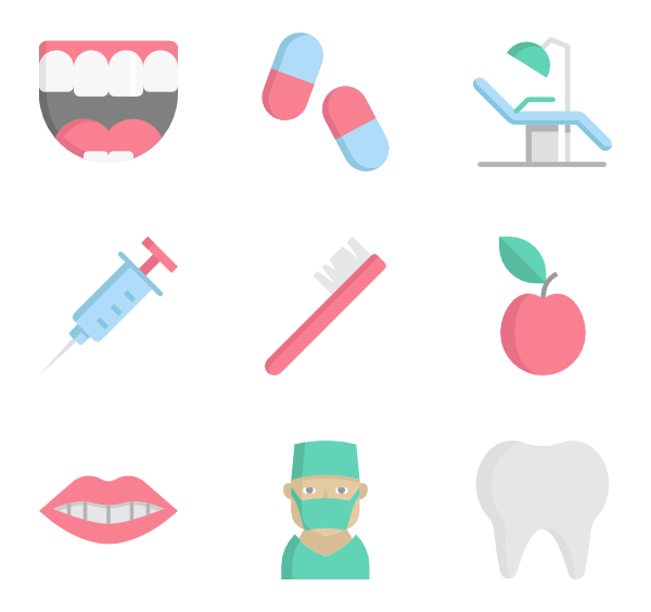 600x564 Tooth Icons