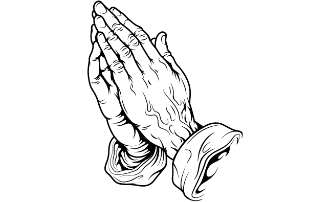 645x395 10 Vector Praying Hands Clip Art Images