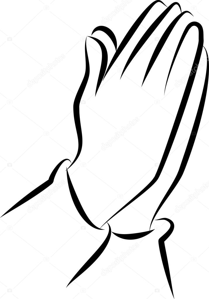 715x1023 Drawing Of Praying Hands Stock Vector Prawny